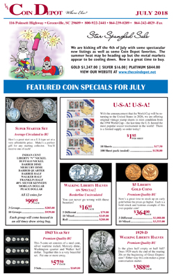 Rare Coin Express - July 2018