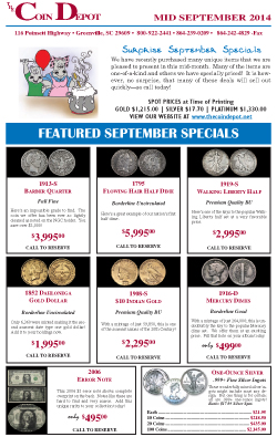 Rare Coin Express - Mid-September 2014