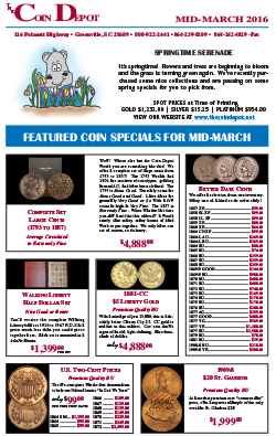Rare Coin Express - Mid-March 2016