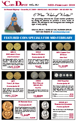 Rare Coin Express - Mid-February 2018