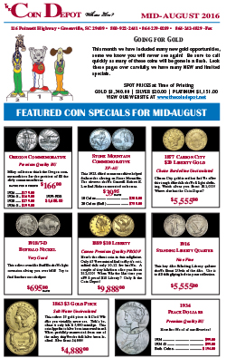 Rare Coin Express - Mid-August 2016