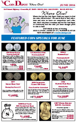 Rare Coin Express - June 2016