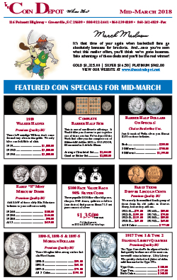 Rare Coin Express - Mid-March 2018